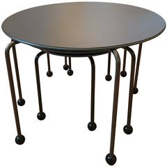 Set of Three Italian Memphis Nesting Tables End Tables