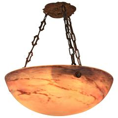 Blown Glass Chandelier by Muller Freres