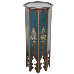 Moroccan Pedestals Blue Table