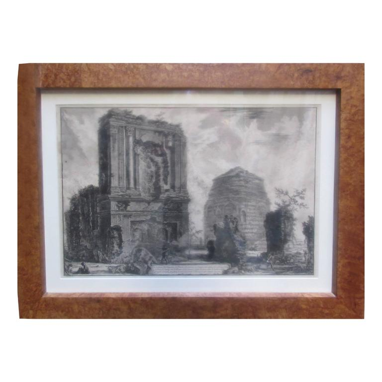 Francesco Piranesi 18th Century Architectural Engraving of Sepotero 1