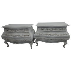 Two Hand-Carved Swedish Rococo Chest