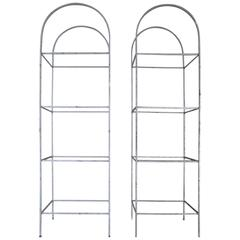 Pair of Arched Etageres