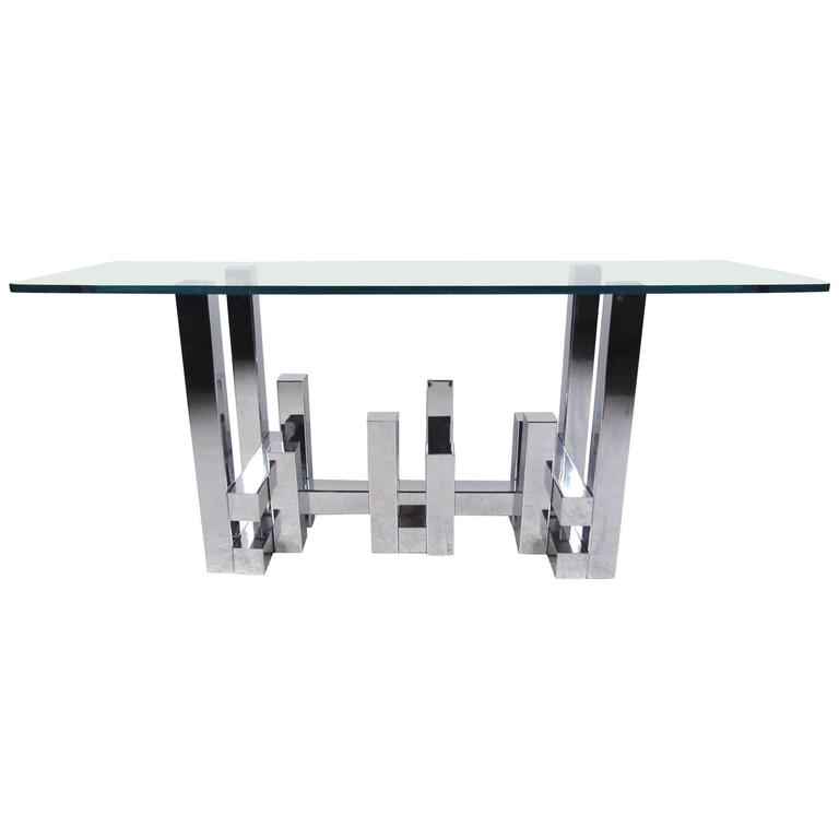 Cityscape Style Console Table after Paul Evans