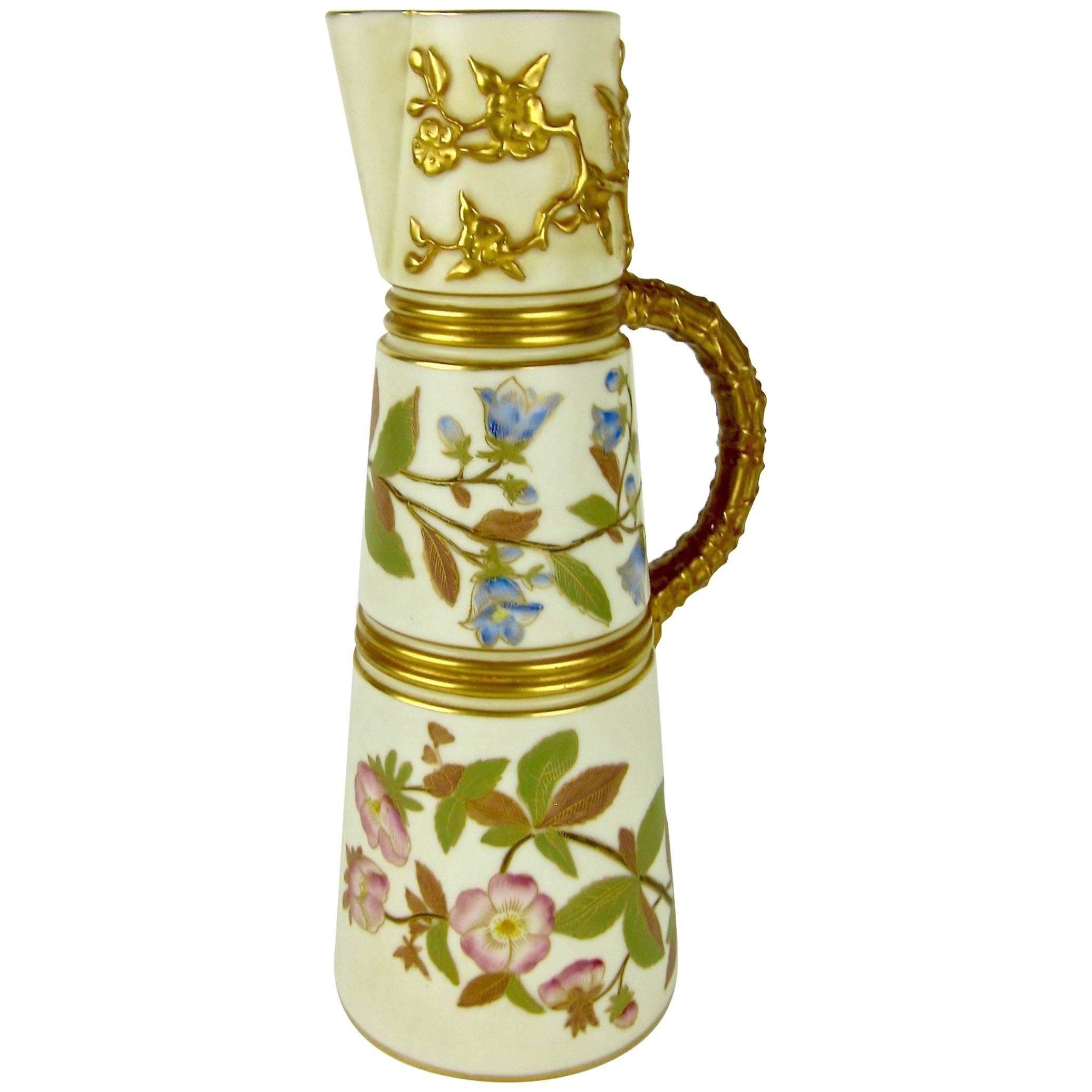 Antique english royal worcester porcelain ewer 1884 at 1stdibs reviewsmspy