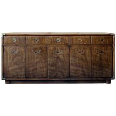 Drexel Heritage Campaign Buffet or Sideboard on Rollers