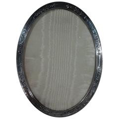 Tiffany Edwardian Sterling Silver Oval Picture Frame