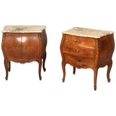Pair of Late 19th Century Louis XV Style Carved Wood Night Tables