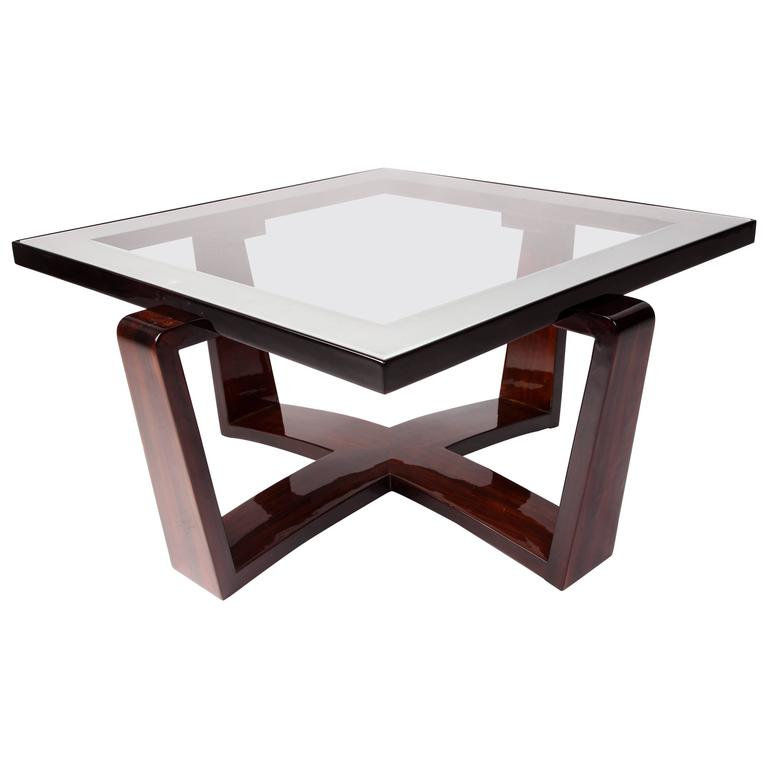 Modernist Bentwood Bauhaus Style Coffee Table With Glass Top For Sale At 1stdibs