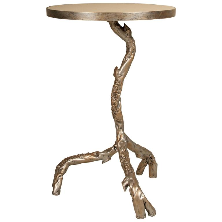 Attractive Tree Branch Side Table, Silvergild Finish 1