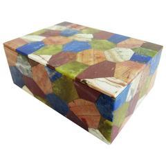 Vintage Italian Lapidary Stone Box