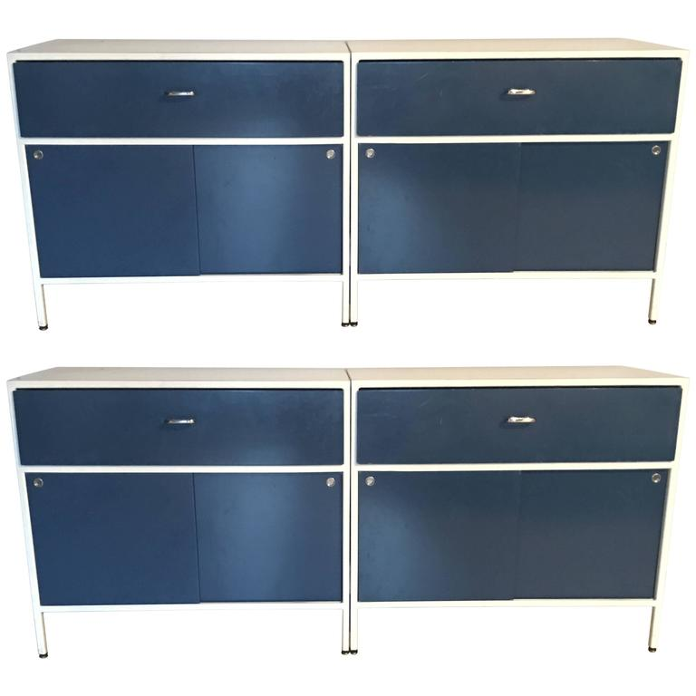 Pair of George Nelson Steel Frame Cabinets for Herman Miller 1