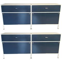 Pair of George Nelson Steel Frame Cabinets for Herman Miller