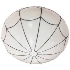 White Leaded Glass Light Fixture