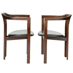 A Pair Rosewood Arm Chairs by Hans Olsen for C/S Mobler, Glostrup