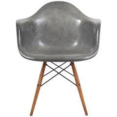 1950s Herman Miller Grey Zenith Manufactured Rope Edge Fiberglass Eames Chair