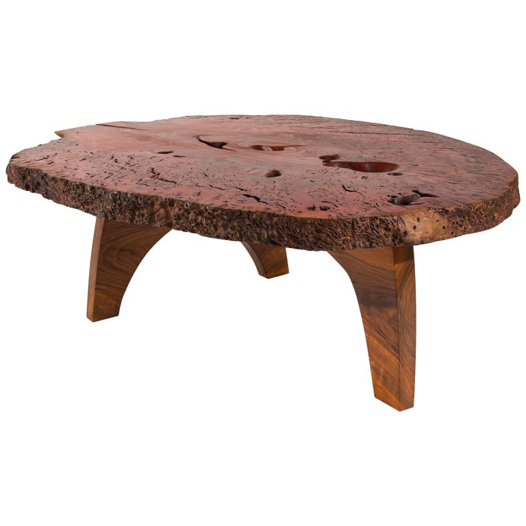 Dark Red Signed Table By Jörg Pietschmann For Sale At Stdibs - Dark red coffee table