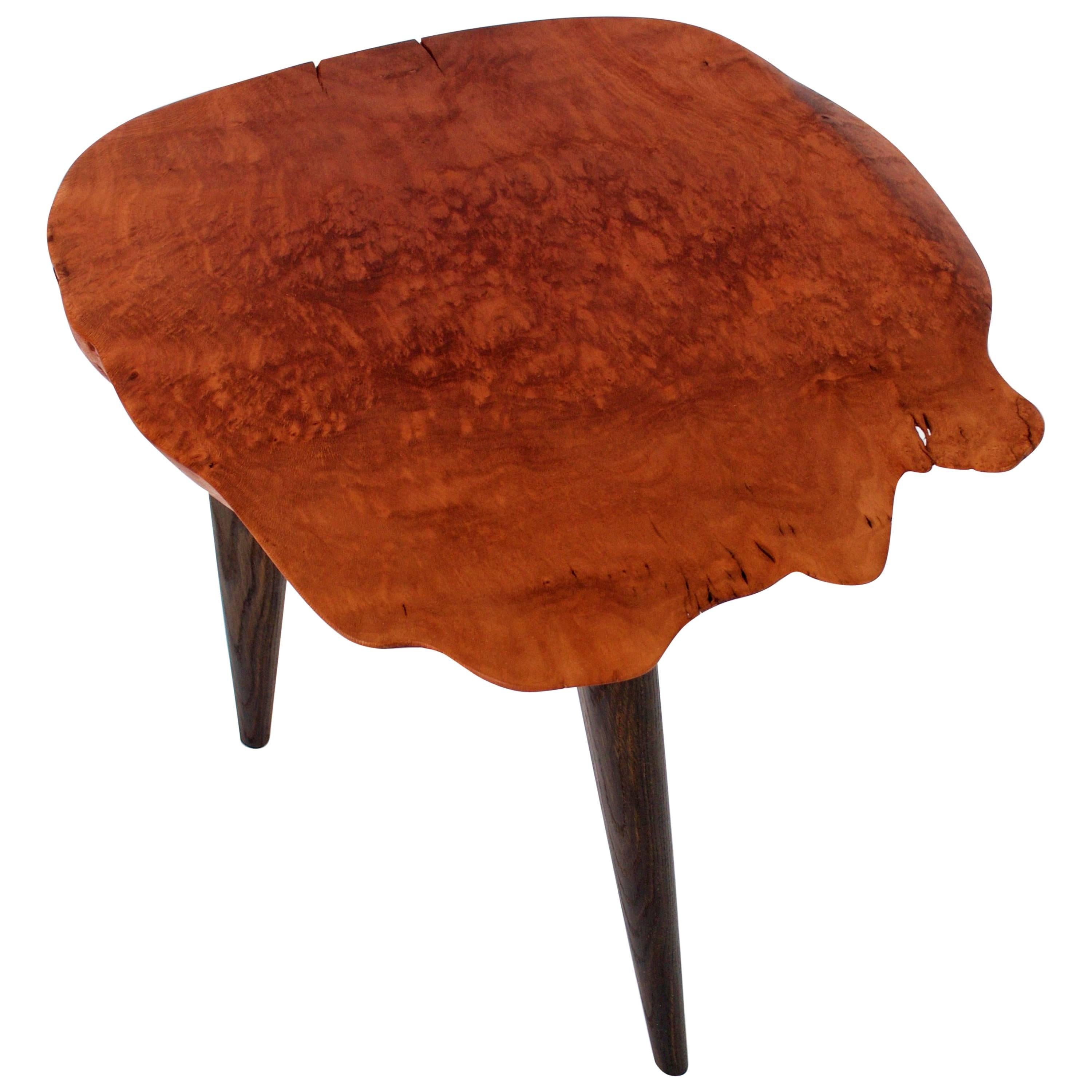 Unique Signed Sycamore Table by Jörg Pietschmann