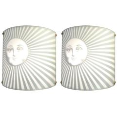 Pair of Wall Lights by Piero Fornasetti, circa 1980