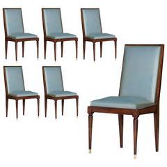 Art Deco Set of Six Chairs, circa 1940