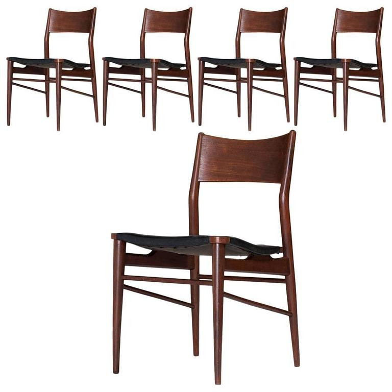 Set of Five Chairs, circa 1960