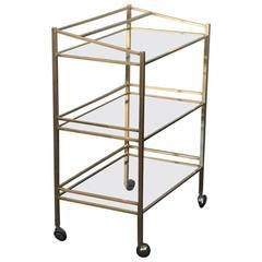 Bar Cart 1970 Minimalist Design Brass