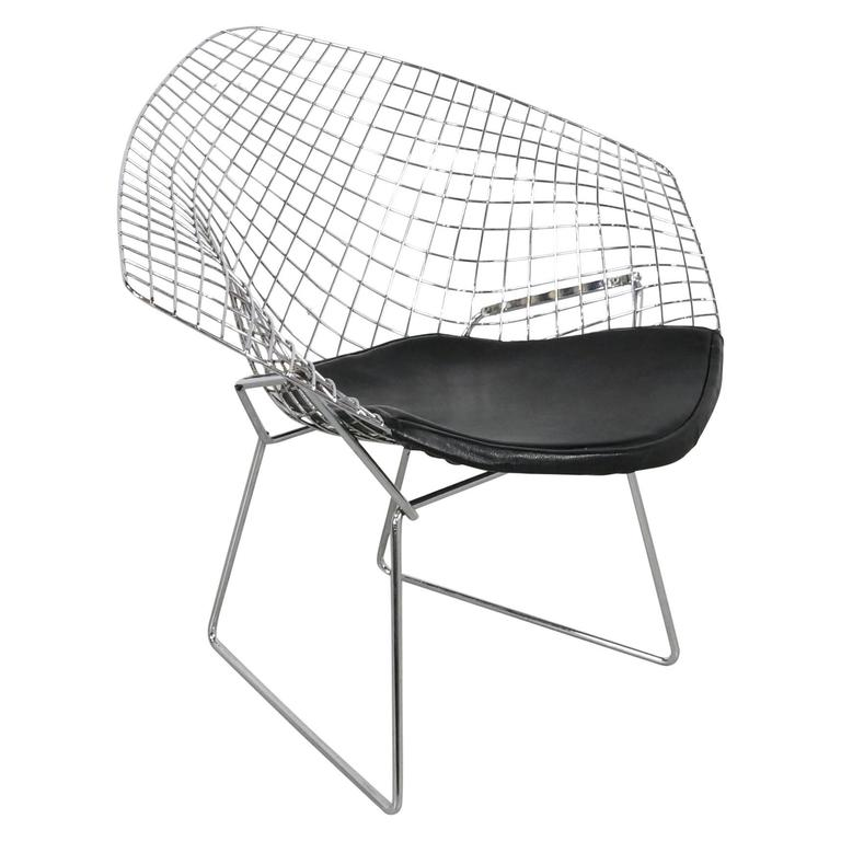 chrome diamond chair by harry bertoia 1952 at 1stdibs. Black Bedroom Furniture Sets. Home Design Ideas