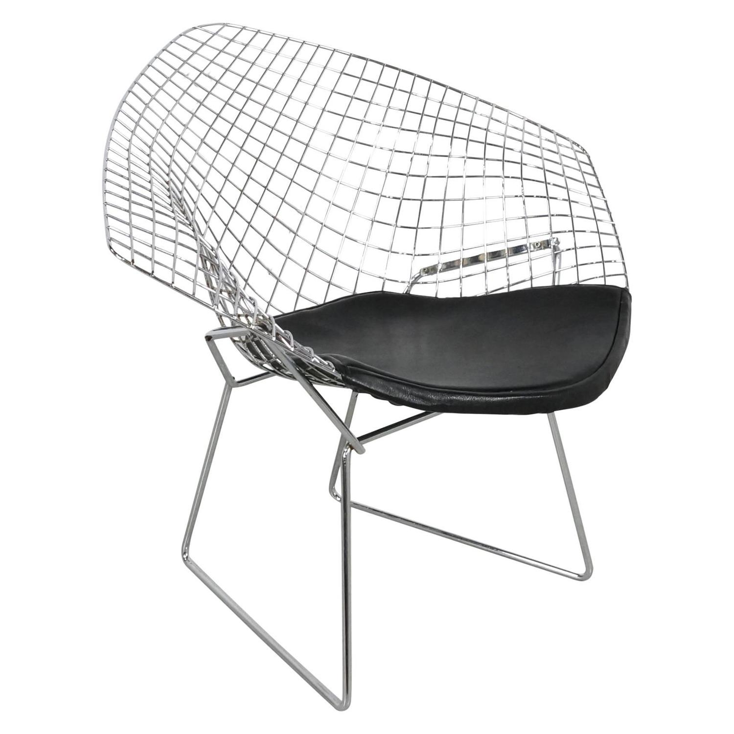 Chrome Diamond Chair by Harry Bertoia 1952 at 1stdibs