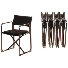 1970s, Set of Five Folding Chairs by Börge Lindau & Bo Lindekrantz