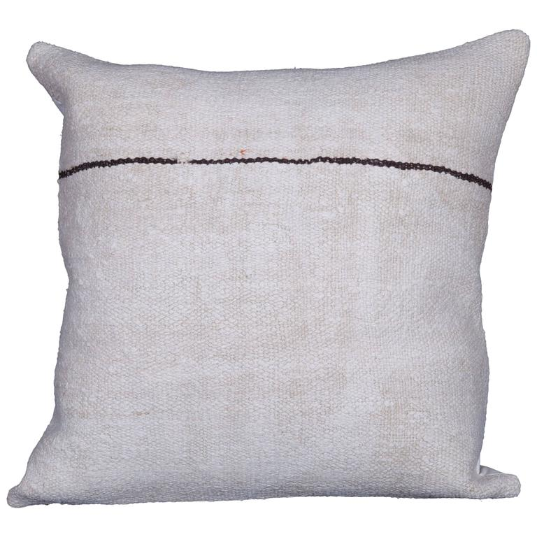 Pillow Made Out of a Mid-20th Century, Anatolian Hemp Kilim at 1stdibs
