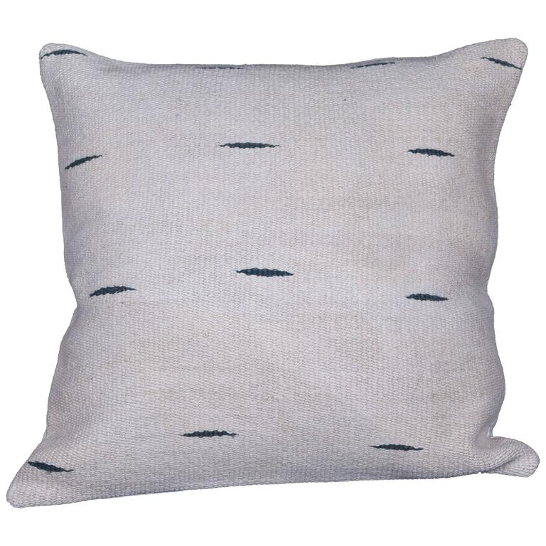 Pillow Made Out of a Mid-20th Century Anatolian Hemp Kilim at 1stdibs