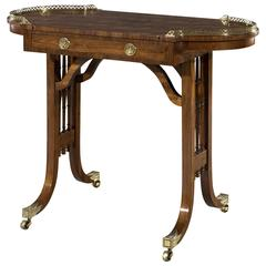Early 19th Century Regency Period Kingwood Parquetry Reversible Games Table