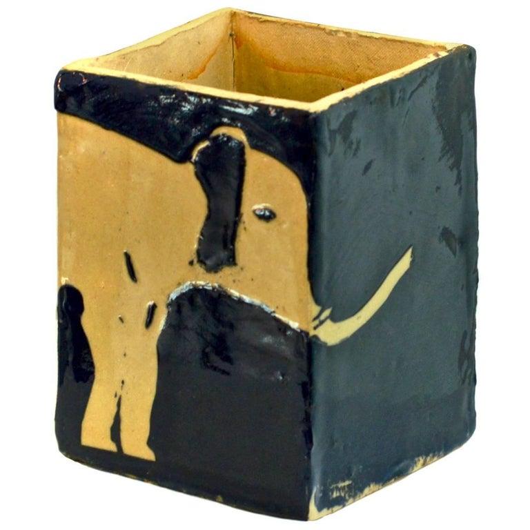 Hand Glazed Ceramic Elephant Vase At 1stdibs
