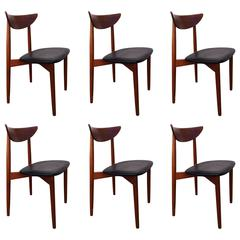 Set of Six Harry Ostergaard Danish Dining Chairs, 1960s