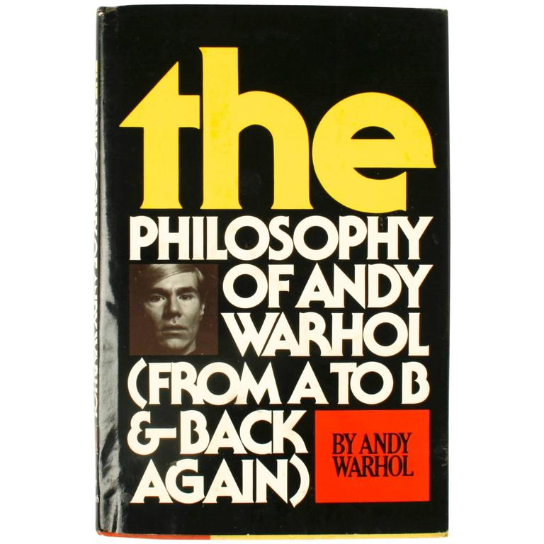 Philosophy of Andy Warhol, Signed 1st Ed