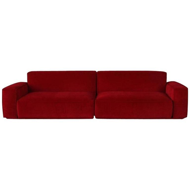 Marechiaro XIII Red Sofa by Arflex Italy For Sale at 1stdibs