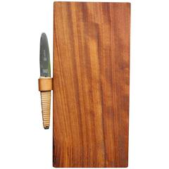 Carl Auböck II Vintage Cutting Board and Knife