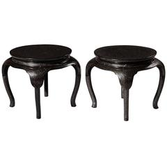 Pair of Japanese Lacquer Low Tables