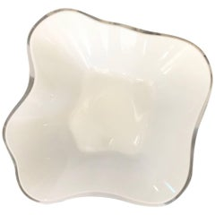 Alvar Aalto Cased White Glass Centerpiece  Bowl