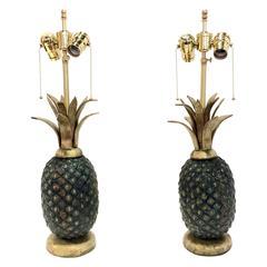 Pair of Pepe Mendoza Mid-Century Pineapple Lamps