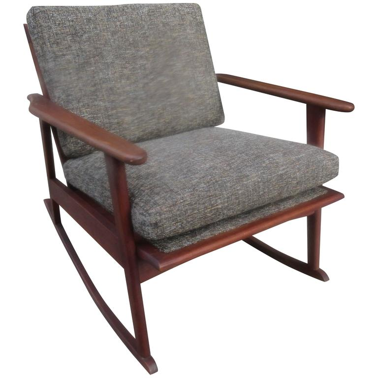Danish Teak Rocker in the Style of Ole Wanscher 1