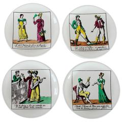 Set of Four Piero Fornasetti Coasters
