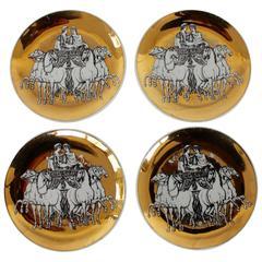 Set of Four Piero Fornasetti Coasters