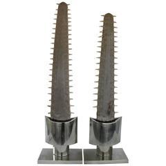 Monumental Pair of Sawfish Bills