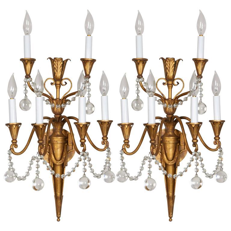 Pair of Louis XVI Style Bras de Lumière 1