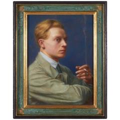 Portrait of Young Man with Cigarette