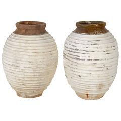 Pair of Large Garden Urns or Oil Jars