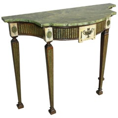 Irish Neoclassic Marble Mounted Console Table