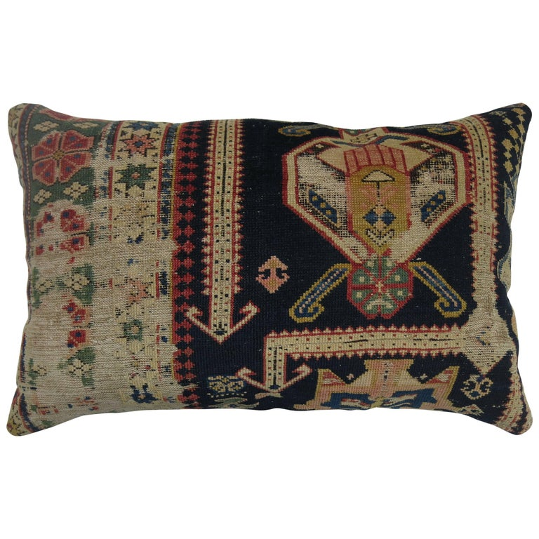 Lumbar Caucasian Rug Pillow For Sale