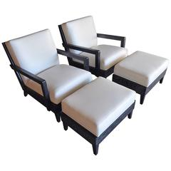 Las Palmas Chair and Ottoman by Christopher Anthony Ltd