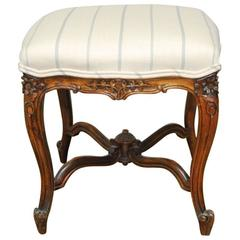 French, Louis XV Carved Tabouret Stool